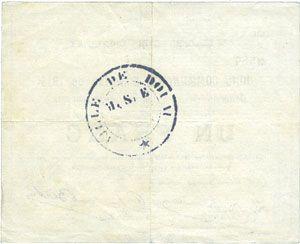 Banknotes Douai (59). Ville. Billet. 1 franc 30.8.1914, série B1