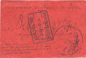 Banknotes Rouy-le-Petit (80). Commune. Billet. 50 centimes, n° 505