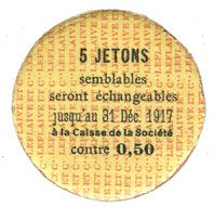 Banknotes Saint-Etienne (42). La Chaléassière. Le Flaive et Cie. Billet. 10 centimes 31.12.1917
