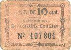 Banknotes Souillac (46). Etablissements Bruel. Billet. 10 centimes