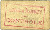 Banknotes Toulouse (31). Service Général des Tramways et Omnibus. Billet. 10 centimes