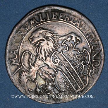 Coins Alsace. Strasbourg. Municipalité. 1/2 taler 1588. Alliance avec Zurich et Berne