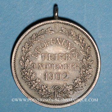 Coins Colmar. Inauguration de la Maison du Commerce. 1902. Argent mat. 29,16 mm