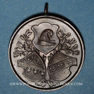Coins Guebwiller. 4e tournoi de gymnastique des associations d'Alsace et de Lorraine 1898. Médaille Cuivre