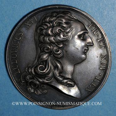 Coins Louis XVI. Strasbourg. Jubilé du rattachement de Strasbourg à la France. 1781. Médaille argent