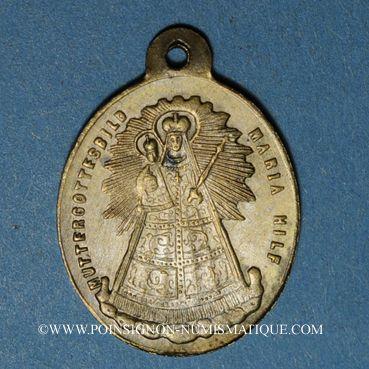 Coins Oderen. Souvenir de Notre Dame d'Oderen (fin 19e – début 20e). Bronze argenté. 19,24 x 26,16 mm