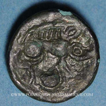 Coins Calètes. Pays de Caux. Bronze au monstre enroulé, 1er siècle av. J-C