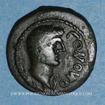 Coins Pictones. Région de Poitiers. Contoutos. Bronze, vers 40 av. J-C