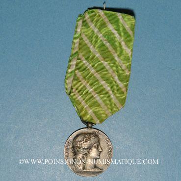 Coins Médaille d'Honneur des Employés Communaux (1921). Argent