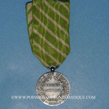 Coins Médaille d'Honneur des Employés Communaux. Médaille d'argent (1921-1945)