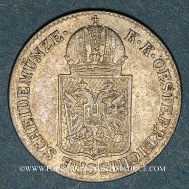Coins Autriche. François Joseph I (1848-1916). 6 kreuzer 1849A. Vienne