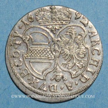 Coins Autriche. Léopold I (1657-1705). 3 kreuzer 1692. Hall