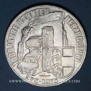 Coins Autriche. République. 100 schilling 1976. 1000e anniversaire de la Carinthie