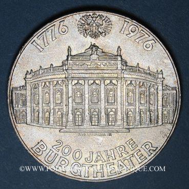 Coins Autriche. République. 100 schilling 1976. 200e anniversaire du Théâtre