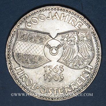 Coins Autriche. République. 50 schilling 1963. 600e anniversaire de la réunion du Tyrol à l'Autriche