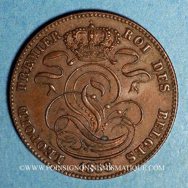 Coins Belgique. Léopold I (1831-1865). 5 centimes 1858
