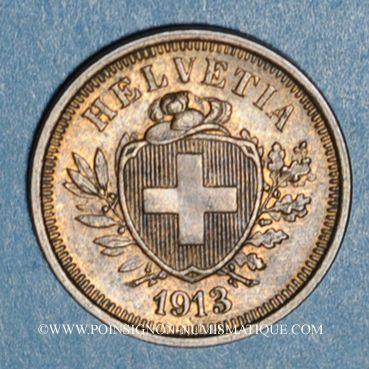 Coins Suisse. Confédération. 1 rappen 1913B