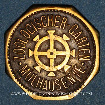 Coins Mulhouse (68, Alsace). Zoologischer Garten (Jardin zoologique). 12 pfennig