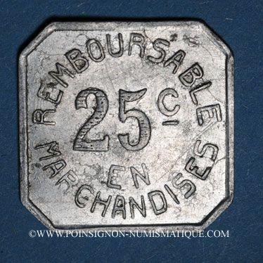 Coins Pau (64). Coopérative Militaire. 25 centimes