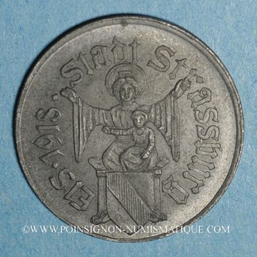 Coins Strasbourg (67). Ville. 10 pfennig 1918. Fer