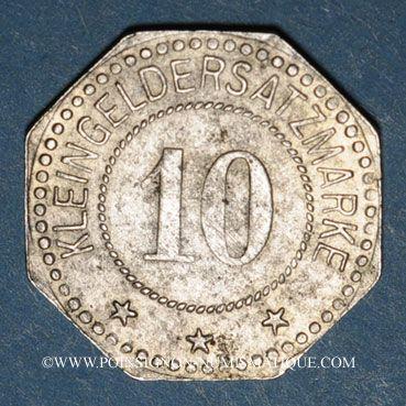 Coins Wissembourg (67). Ville. 10 pfennig 1917. Fer