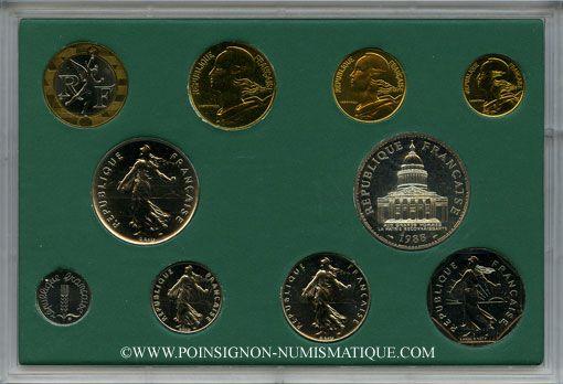Coins 5e république (1959- ). Série B.U. 1988