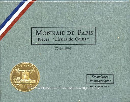 Coins 5e république (1959-). Série FDC 1969