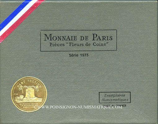 Coins 5e république (1959-). Série FDC 1973