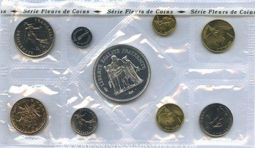 Coins 5e république (1959-). Série FDC 1974