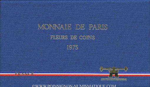 Coins 5e république (1959-). Série FDC 1975