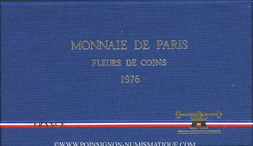 Coins 5e république (1959-). Série FDC 1976