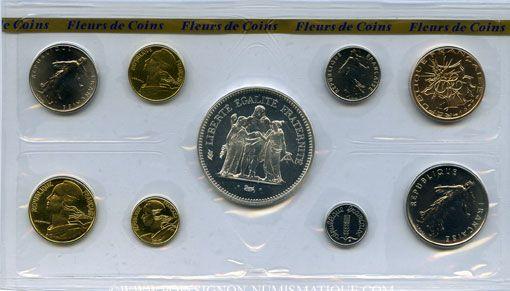 Coins 5e république (1959-). Série FDC 1977