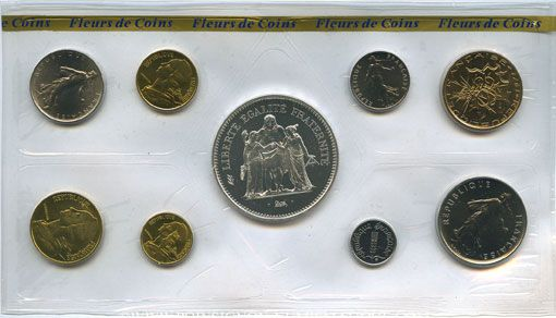 Coins 5e république (1959-). Série FDC 1978