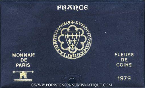 Coins 5e république (1959- ). Série FDC 1979