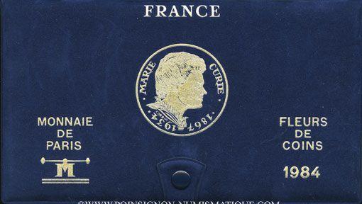 Coins 5e république (1959- ). Série FDC 1984