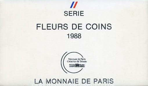 Coins 5e république (1959- ). Série FDC 1988
