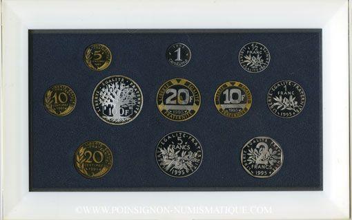 Coins 5e république (1959-). Série FDC 1995 B.E.