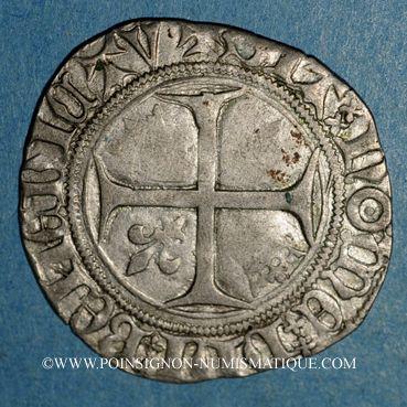 Coins Charles VI (1380-1422). Blanc guénar à l'O rond, 2e émission (1389). Sainte-Menehoud