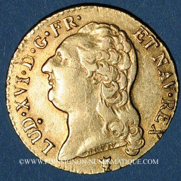 Coins Louis XVI (1774-1793). Louis d'or au buste nu 1787 I. Limoges. 2e semestre
