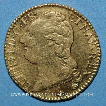 Coins Louis XVI (1774-1793). Louis d'or au buste nu 1788 A. 1er semestre