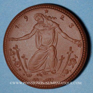 Coins Meissen. Krieger Gedächtnis Stätte. Médaille 1923. Porcelaine. 42,02 mm. N° 50514