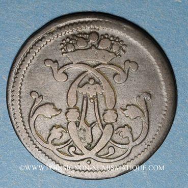 Coins Cologne. Clément Auguste de Bavière (1723-61). 1/4 stuber 1745