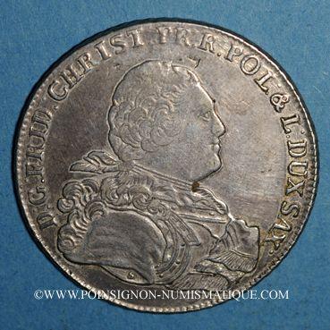 Coins Saxe. Frédéric Christian (octobre - décembre 1763). Taler 1763 IFôF. Leipzig