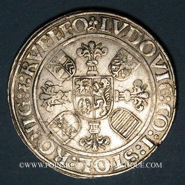 Coins Stolberg-Koenigstein-Rochefort. Louis II (1544-1574). Taler (15)46. Nordlingen