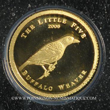 Coins Palau. République. 1 dollar 2006 (PTL 999‰. 0,5 g)