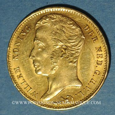 Coins Pays Bas. Guillaume I (1815-1840). 10 florins 1832. (PTL 900‰. 6,72 g)