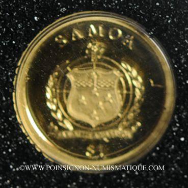 Coins Samoa. Monarchie parlementaire. 1 dollars 2010. (PTL 999,9‰. 0,5 g)