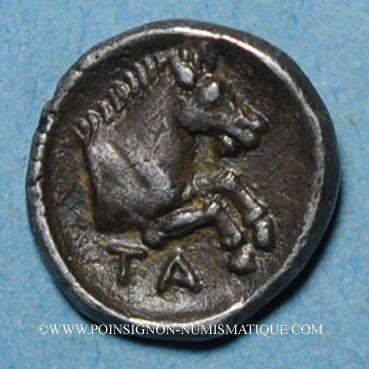 Coins Béotie. Tanagra. Obole, vers 350-300 av. J-C.