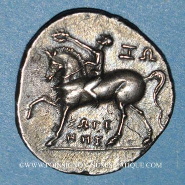 Coins Calabre. Tarente. Occupation punique. 1/2 shekel, vers 212-209 av. J-C