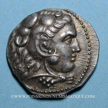 Coins Roy. de Macédoine. Alexandre III le Grand (336-323 av J-C) Tétradrachme Acé-Ptolémaïs 316-315 av J-C